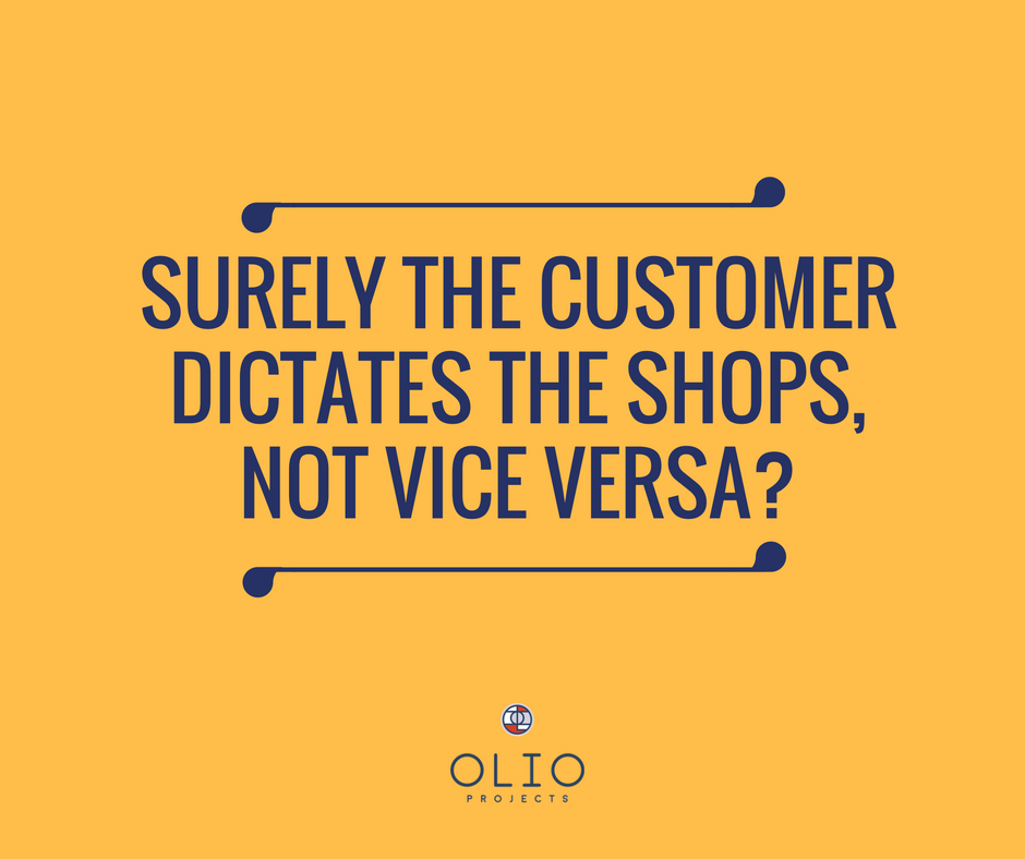 Does a place dictate the customer or vice versa?